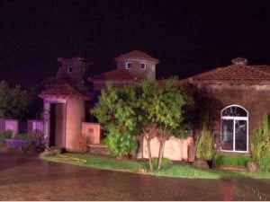 Lightning-caused Gilbert house fire