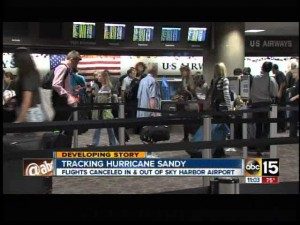 Flights canceled at Sky Harbor due to Hurricane Sandy