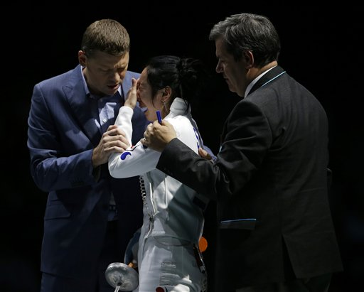 London Olympics Womens Fencing