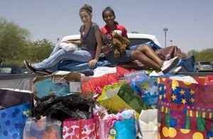 East Valley girls celebrate birthdays by giving