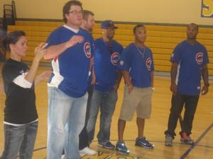 Cubs visit Sequoia kids