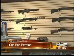 Gun ban petition