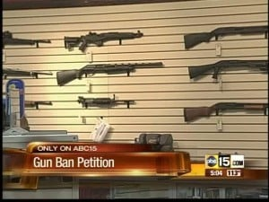 Gun ban petition