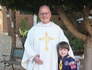 Rev. Albert Francis Hoorman with Aidan Benek