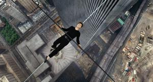 <p>Joseph Gordon-Levitt portrays Philippe Petite in a scene from, <em>The Walk</em>. The film, about high-wire artist Phillippe Petit's cabled walk between the Twin Towers in 1974, opened the 53rd New York Film Festival on Sept. 26, 2015. (Sony Pictures via AP)</p>