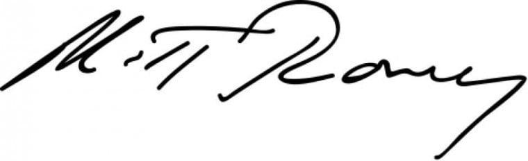 Romney signature