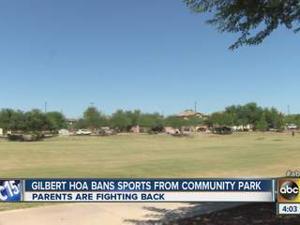 HOA defends Gilbert park usage