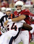 Cards' QB Leinart leaves game with injury