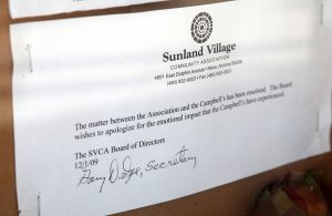 Grandson to stay; HOA apologizes to widow