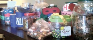 Pennies collected by Summit School students