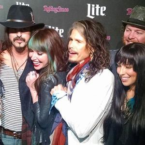 <p>Aerosmith lead singer Steven Tyler poses for a photo at the Rolling Stone Live in Arizona Super Bowl party in Scottsdale on Jan. 31. [Eric Mungenast/Tribune]</p>