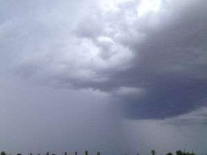 Rain clouds over San Tan Valley