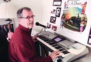 Tom Morrissey at his home studio