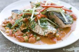 Gazpacho Salmon