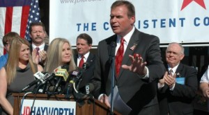Hayworth blasts McCain in campaign launch