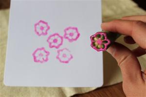Crafts-Veggie Stamping
