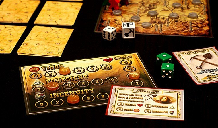 'The Legend of the Lost Dutchman' board game
