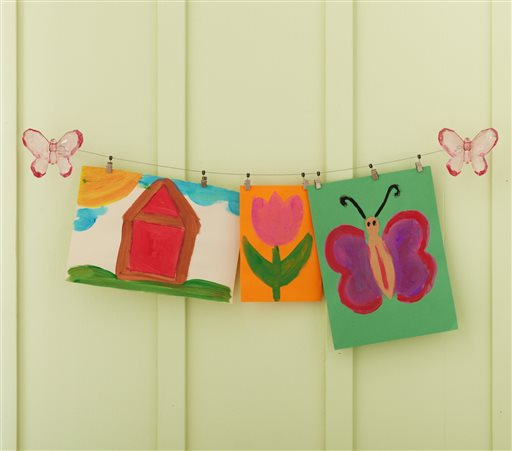 Spring Homes-Kids Art