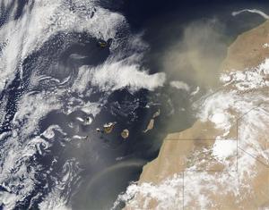 Cuba African Dust Clouds