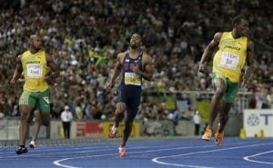 Bolt shatters 100-meter world record