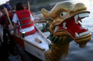 Competitors plunge into dragon boat racing