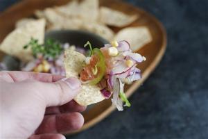 Food Deadline Grapefruit Salsa
