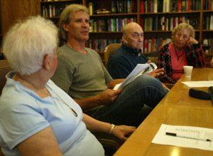 Actor-screenwriter makes weekly visits to seniors