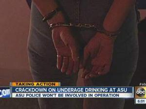 ASU underage drinking