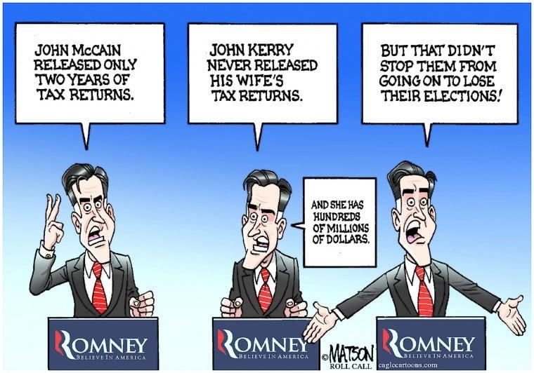 Political Cartoon: Romney