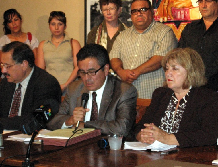 Antonio Bustamante, Daniel Ortega, Mary Rose Wilcox