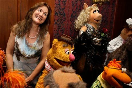 Cheryl Henson, Miss Piggy, Fozzie Bear, Scooter
