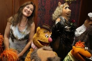 Cheryl Henson, Miss Piggy, Fozzie Bear, Scooter