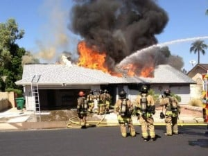 First-alarm fire destroys Mesa home