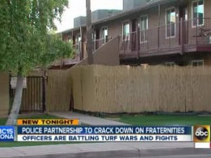 City of Tempe meeting on fraternity problems