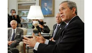 Bush says he would welcome Abbas to U.S.