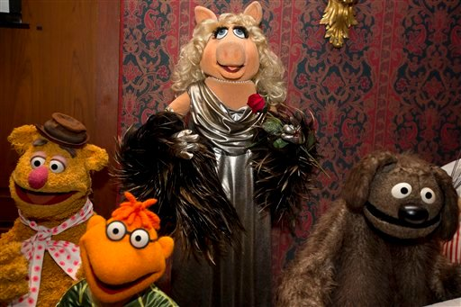Miss Piggy, Fozzie Bear, Scooter, Rowlf