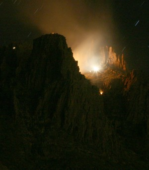 Plane Crash into Superstition Mountains