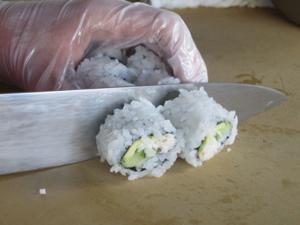 Blue Wasabi sushi-making class