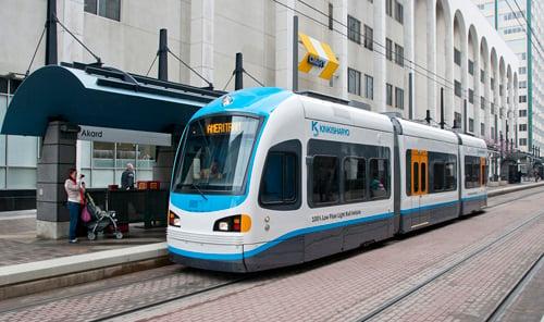 Kinkisharyo hybrid streetcar