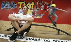 Skateboard school: Reading, writing, ripping