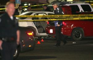 Photo: Parking lot shooting