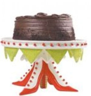 Deck out dessert plates and cake stands for the holidays