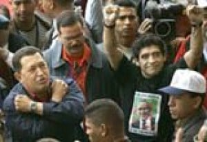Chavez 'inspired' by anti-Bush protesters