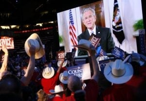 Republicans hail McCain, party defends Palin