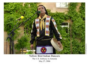 Ken Duncan of Yellow Bird Indian Dancers