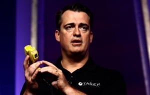 Taser shows off new device to record police incidents