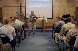 Transit Center chapel provides religious services for military