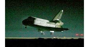 Discovery lands safely in California
