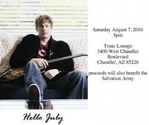 Hello July plays benefit concert at Tonic Lounge