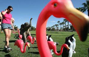 Animal lawn decorations among public art exhibit